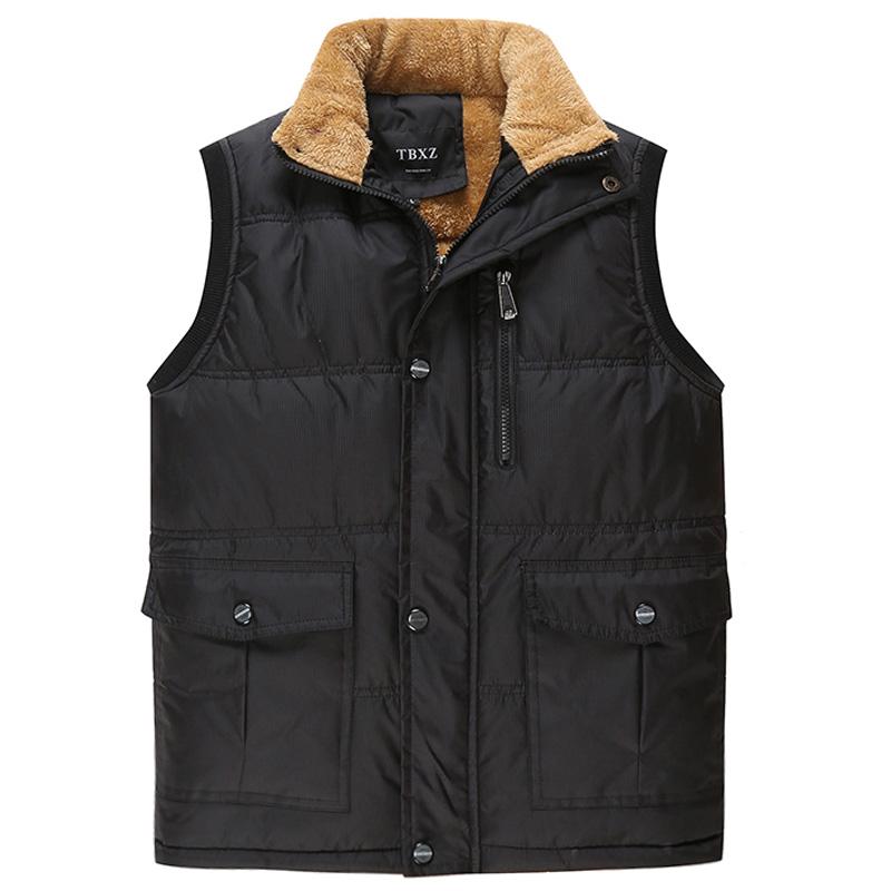 冬季中老年马甲男加绒加厚立领大码爸爸装外套老人棉马夹保暖背心
