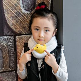 2017男女儿童保暖围脖套韩版潮小孩卡通防寒围巾宝宝户外毛绒围脖