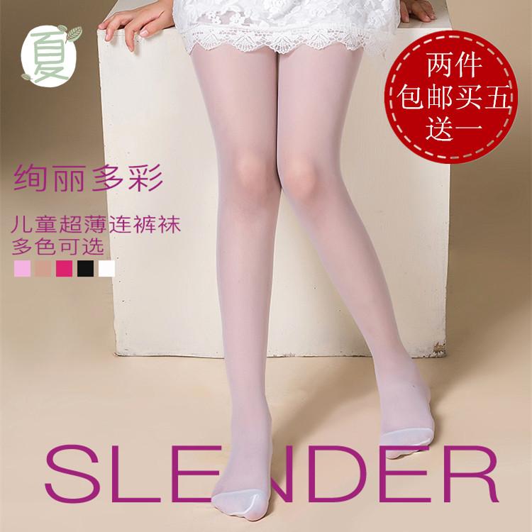 夏天白色袜子可爱儿童连裤袜超薄丝袜女童夏季舞蹈防勾丝