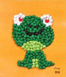 儿童搓纸粘贴画 幼儿园手工制作材料 创意diy玩具揉纸画 青蛙