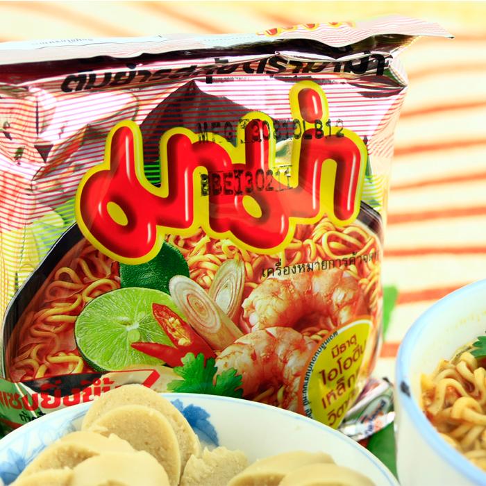 进口食品泰国特产mama妈妈方便面酸辣虾汤冬荫功冬阴功味10袋包邮