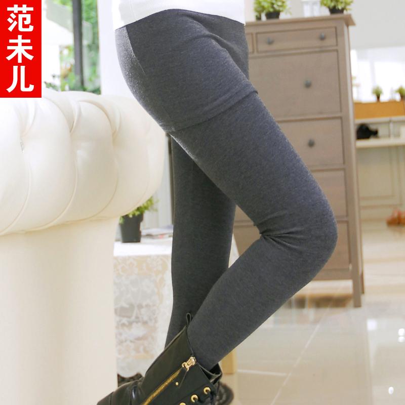 范未儿韩版潮外穿假两件大码加厚包臀打底裙长裤裙女秋冬新款修身