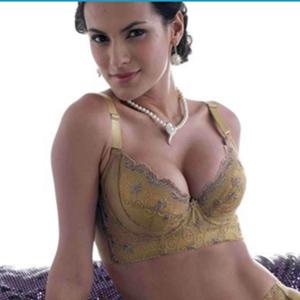 秋正品薄款蕾丝胸罩收副乳超聚拢五排扣内衣大码大胸女调整型文胸