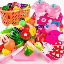 儿童过家家厨房玩具切切水果蔬菜蛋糕切切看女孩玩具益智切切乐