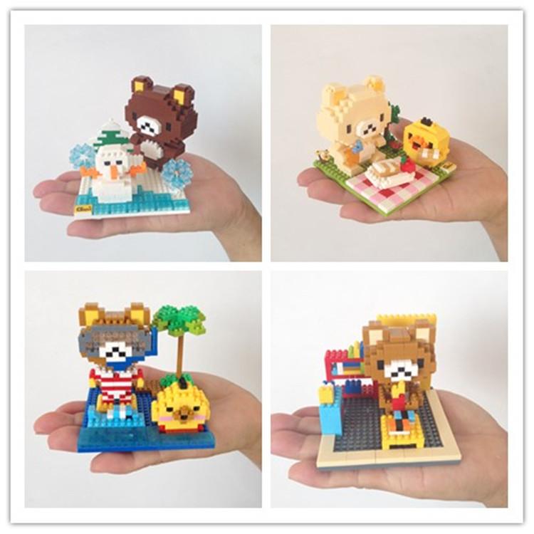 轻松熊 钻石小颗粒迷你动漫拼插乐高式积木 儿童玩具  场景模型