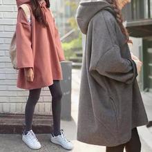 套头连帽卫衣女装bf韩版学生秋冬季2016新款加绒中长款宽松上衣潮