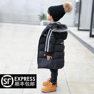 儿童棉衣外套中长款男童2016新款 加厚冬装棉袄女亲子装宝宝棉服