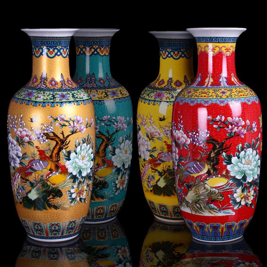 景德镇50cm-70cm高陶瓷花瓶家居饰品客厅摆件仿古