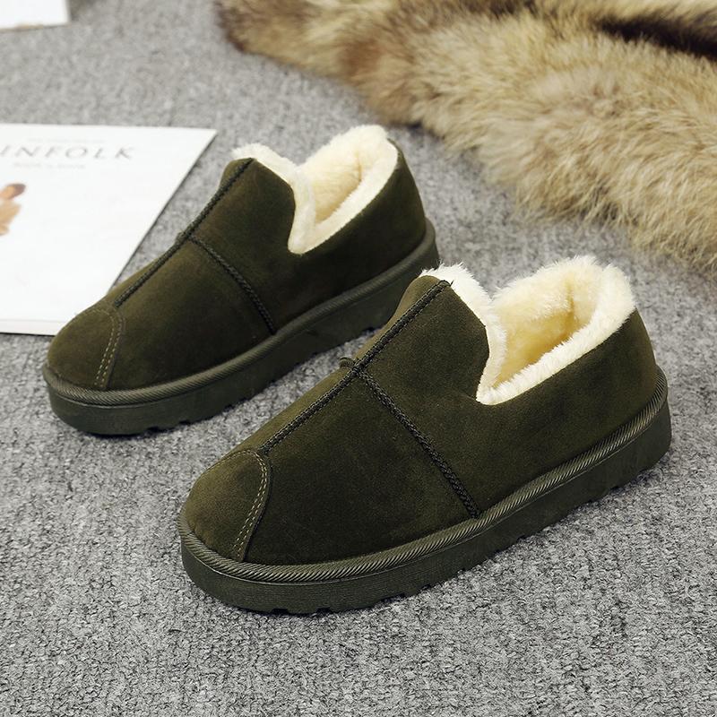 雪地靴女短靴韩版百搭学生面包鞋冬季厚底懒人防滑保暖加绒棉鞋潮
