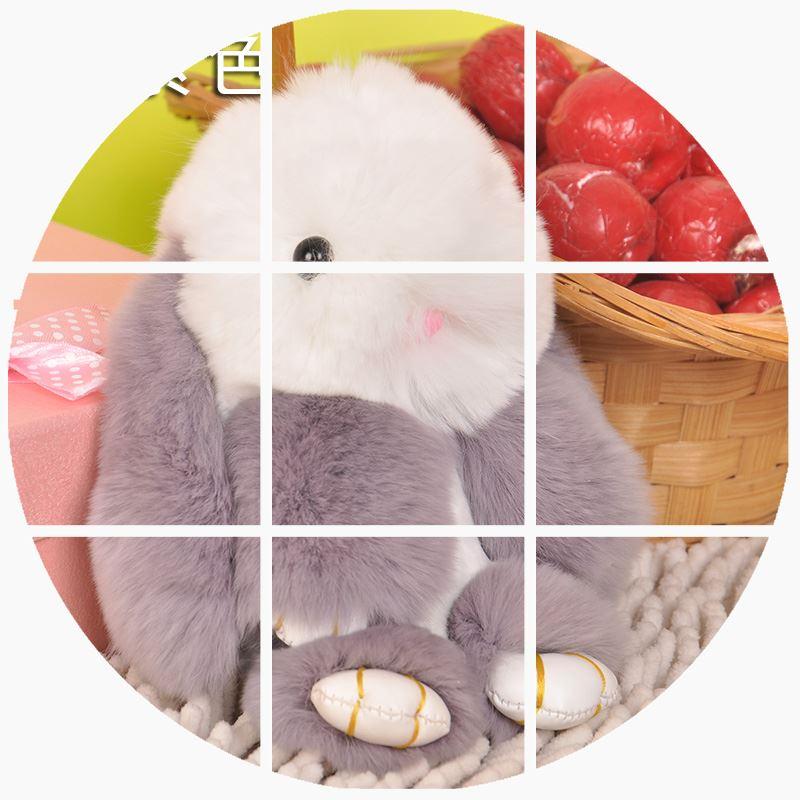 水貂兔子萌萌獭兔毛小兔子挂件汽车钥匙扣包包挂饰皮草装死兔饰品