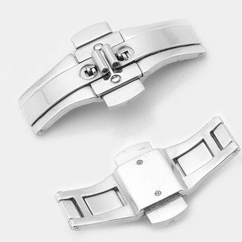 手表配件通用不锈钢双按钢带蝴蝶