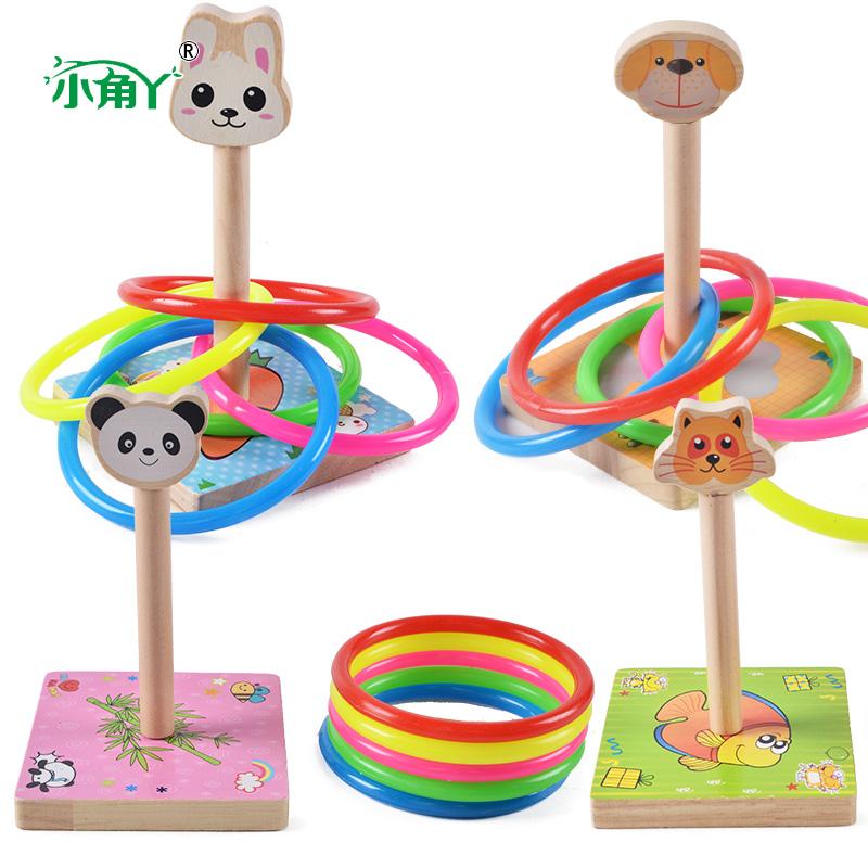 动物套圈游戏 幼儿园公司活动套圈圈游戏儿童玩具木制投掷套圈图片