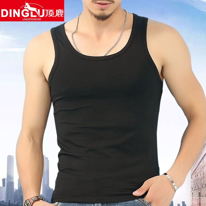 男士纯棉背心吊带紧身青年修身型运动健身透气跨栏工字宽松韩版夏