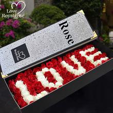 女人节杭州鲜花速递rose99朵红玫瑰礼盒生日花预订全国同城送花店