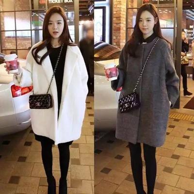 毛呢大衣女中长款冬季外套韩版2017新款羊绒呢子大衣学生加棉加厚
