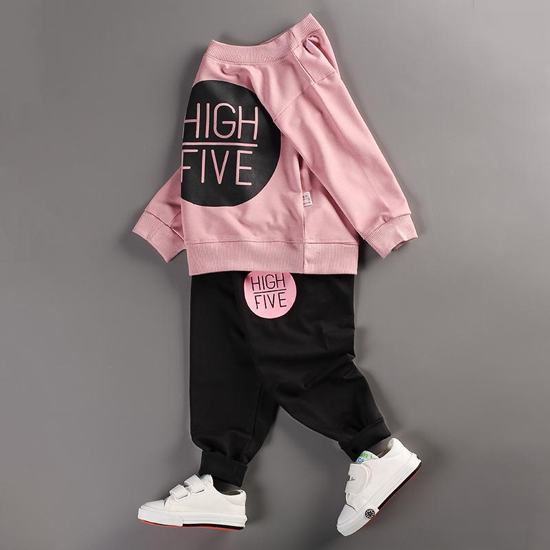 春秋衣服女童婴儿男童宝宝春装儿童运动套装