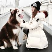 彩色大毛领中长款羽绒服女2016冬装新款韩版收腰显瘦加厚外套 潮