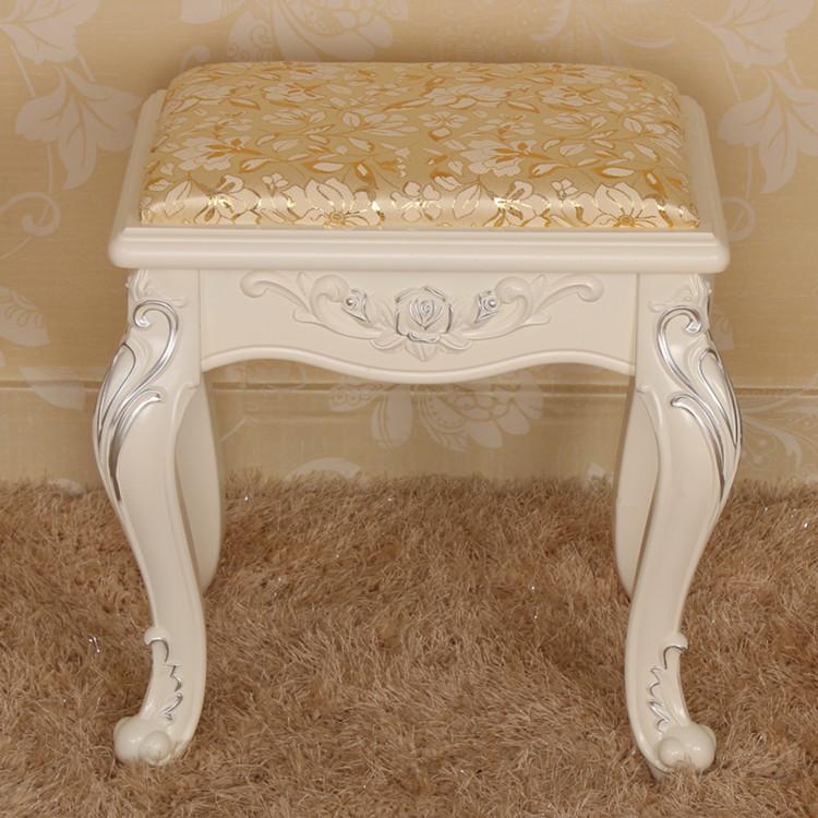 凳化妆凳子韩式布艺坐凳欧式简约现代实木白色特价