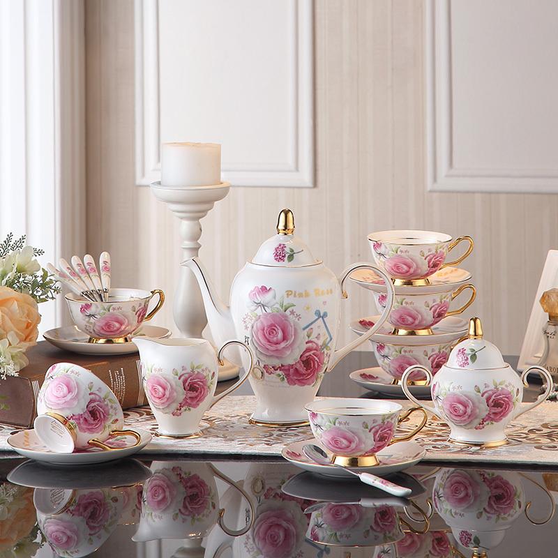 欧式咖啡杯套装骨瓷咖啡具简约