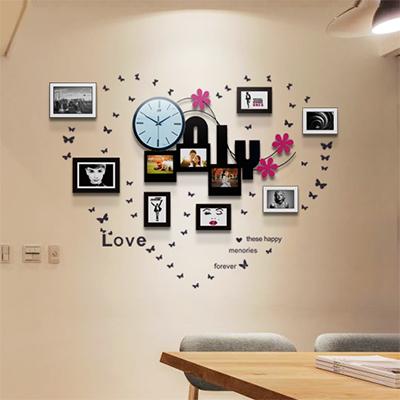 现代简约实木照片墙客厅欧式田园相框墙创意组合相片