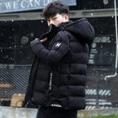 男士外套棉衣冬季2017潮流新款男装加绒加厚韩版修身短款棉服棉袄