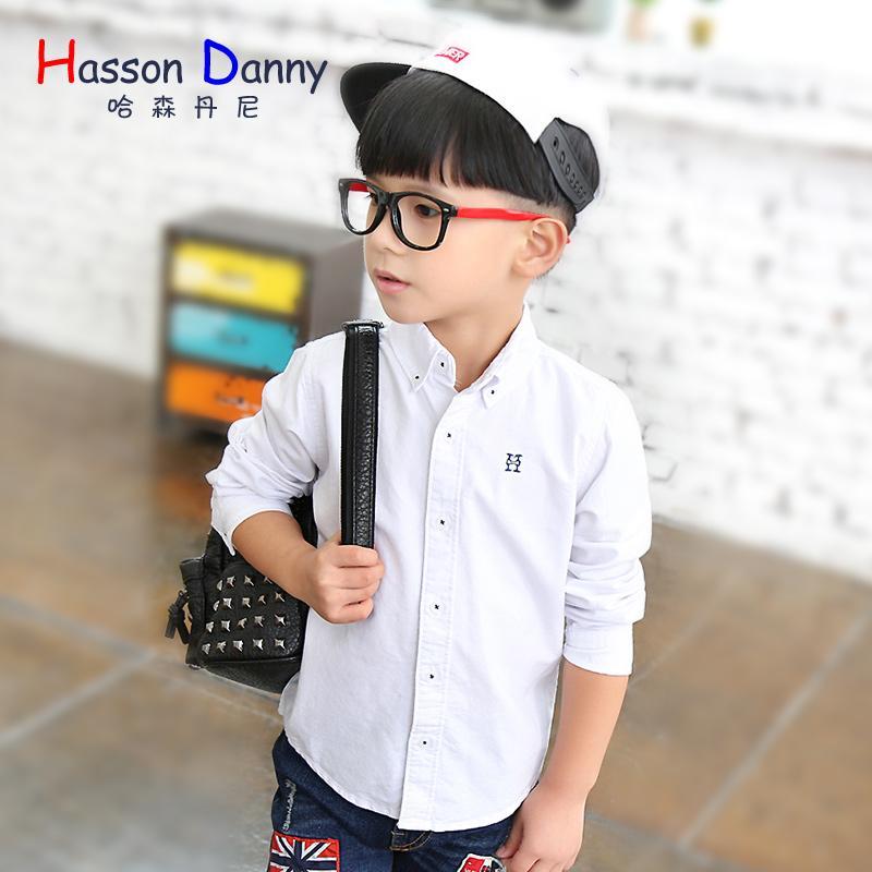 哈森丹尼儿童纯棉打底衬衣