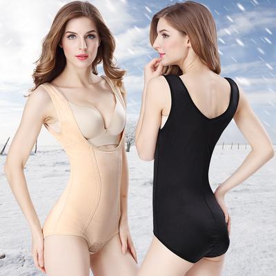 冬季加厚加绒连体塑身衣收腹托胸美体内衣保暖束身背心女款瘦身衣