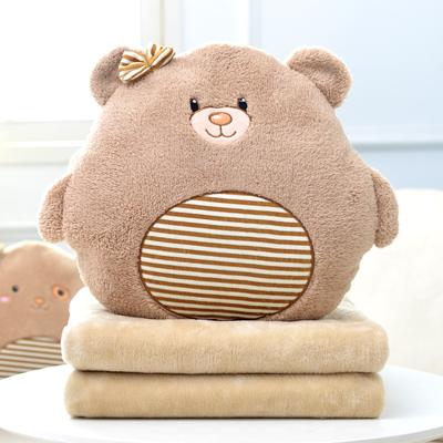 抱枕被子两用靠背垫办公室腰靠午睡枕头汽车靠垫靠枕珊瑚绒毯子