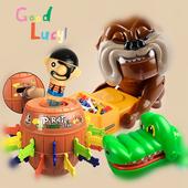 大嘴巴鳄鱼玩具聚会整人海盗桶儿童桌面游戏休闲整蛊玩具 咬手指