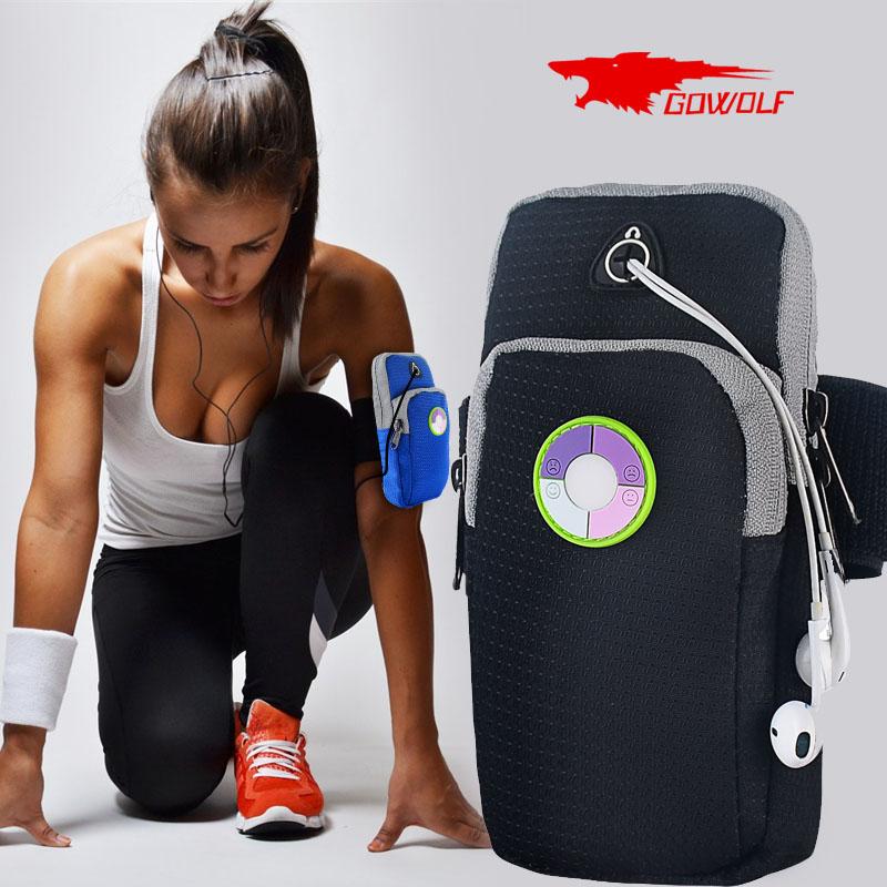 男女运动跑步手机臂包苹果 健身臂带华为手臂套胳膊手机袋手腕包