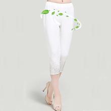 【天天特价】中老年女装夏季七分裤子新品妈妈装牛奶丝4050雪纺裤