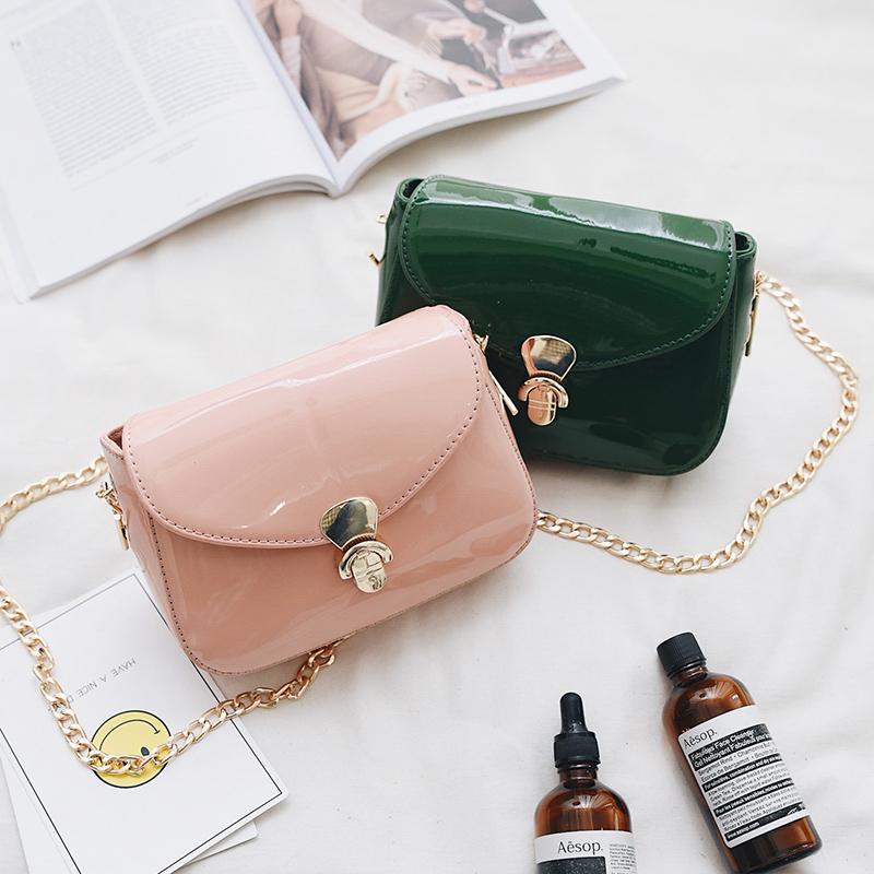 包單肩包鎖扣斜挎手機鏈條韓國果凍迷你簡約包包