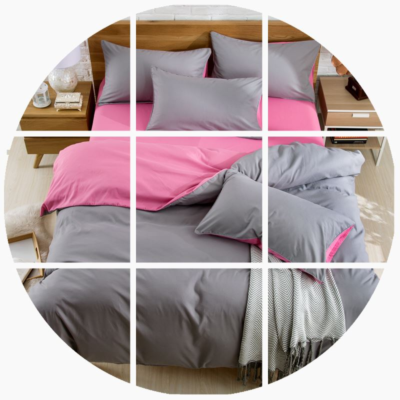简约纯色全棉纯棉家纺四件套学生床单被套素色1.8/2.0m床上用品4