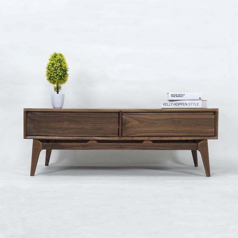 北欧实木日式白橡木胡桃木茶几宜家现代简约客厅家具