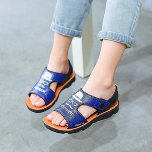 2017新款儿童凉鞋男童夏季童鞋软底中小童沙滩鞋韩版男孩凉鞋