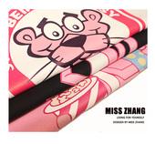 潮牌短袖T恤女半袖体恤 情侣装夏装韩版潮bf风宽松大码粉红豹衣服