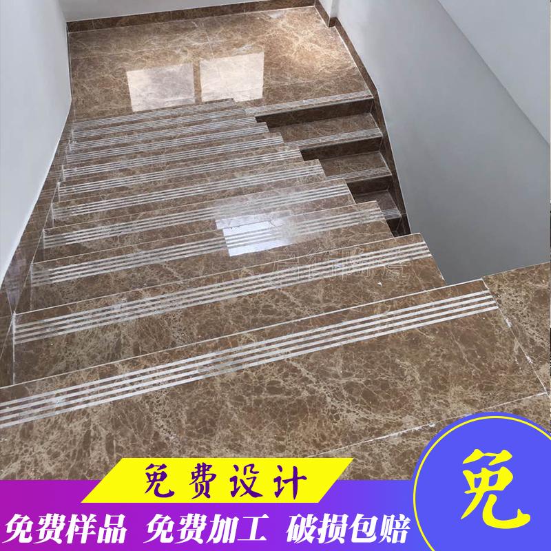 一体瓷砖楼梯砖梯级地板砖踏步砖抛光砖台阶 防滑连体单色1.2米砖