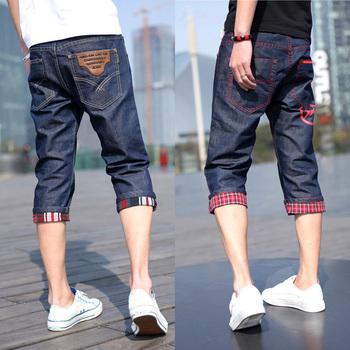 夏季男士五六七八分九分牛仔裤潮