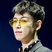 太阳镜女透明镜片黄色夜视眼镜飞行员蛤蟆镜 韩国GD权志龙TOP同款