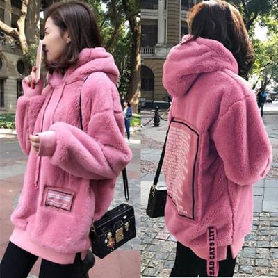 韩国孕妇秋冬装加绒加厚孕妇卫衣毛绒外套200斤大码宽松孕妇上衣