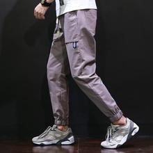 运动日系男士休闲裤男九分裤哈伦裤束脚裤男青年宽松小脚裤子秋季