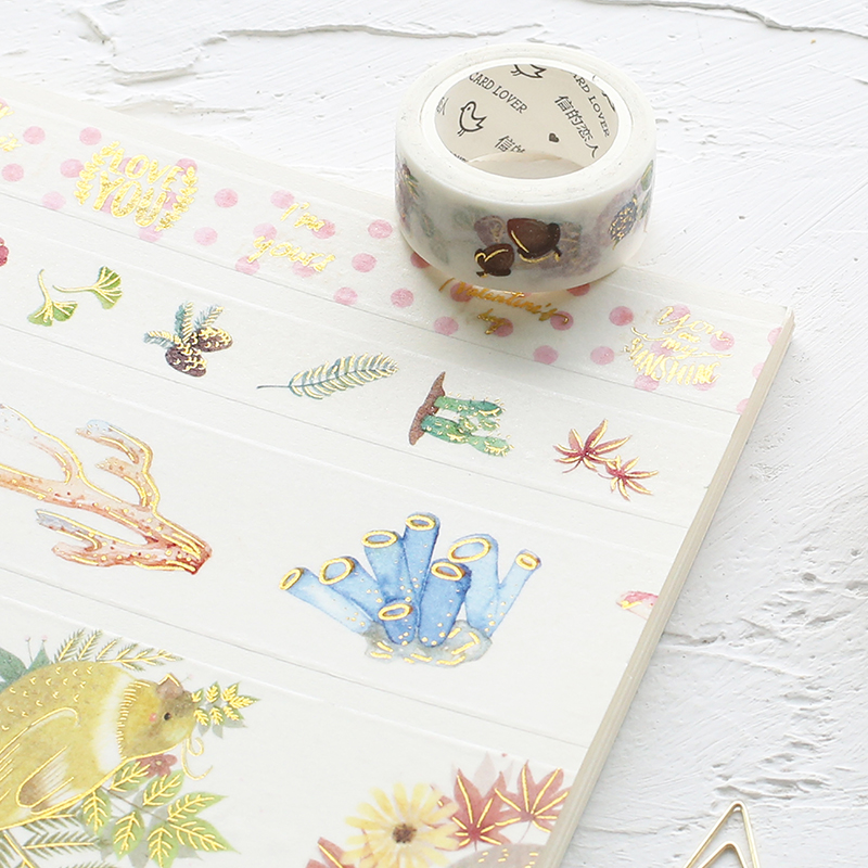 信的恋人和纸胶带烫金贴纸手帐工具手机装饰可爱彩色印花胶带文具