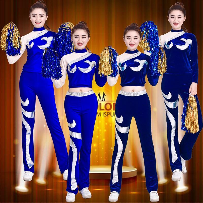 竞技健美操学生拉拉队舞蹈服啦啦操比赛服装**儿童团体演出服女