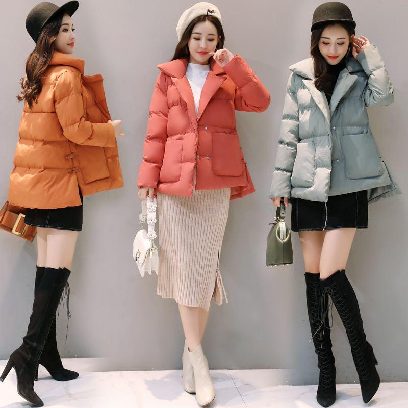 棉服女装短款2017冬季新款韩版松显瘦百搭可爱外套小棉袄加厚棉衣