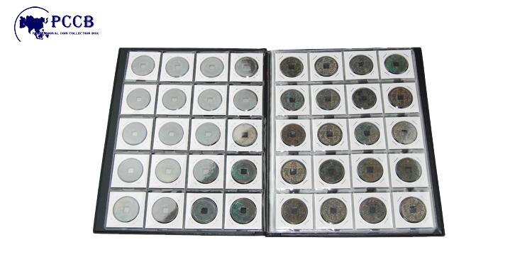 正品 空册 定位册 硬钱收藏册 钱钱收藏册 格 200 方形纸夹册 PCCB