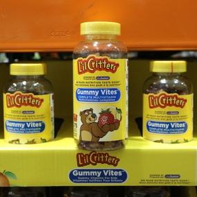 任2瓶包直邮 加拿大Lil Critters儿童复合维生素小熊软糖275粒