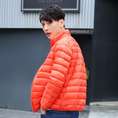 2017秋冬新款立领薄款羽绒服男轻薄 正品大码男士夹克 白鸭绒外套