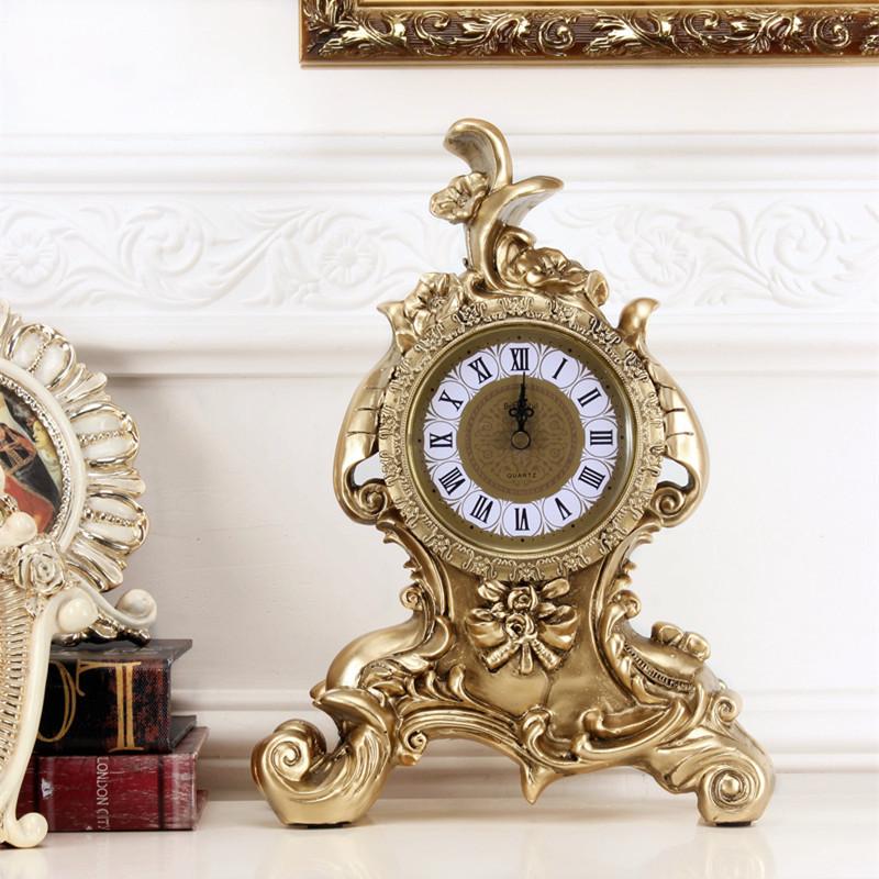 欧式实用台钟座钟家居装饰品摆件客厅酒柜电视柜结婚