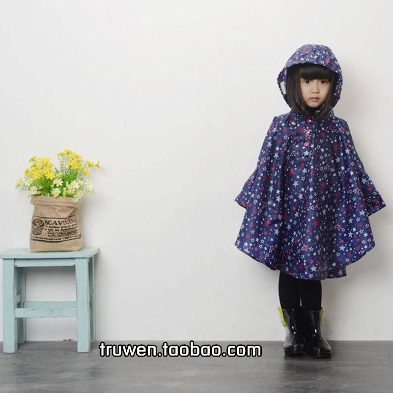 日本韩国轻薄儿童雨披小孩子可爱雨衣男童女童宝宝防