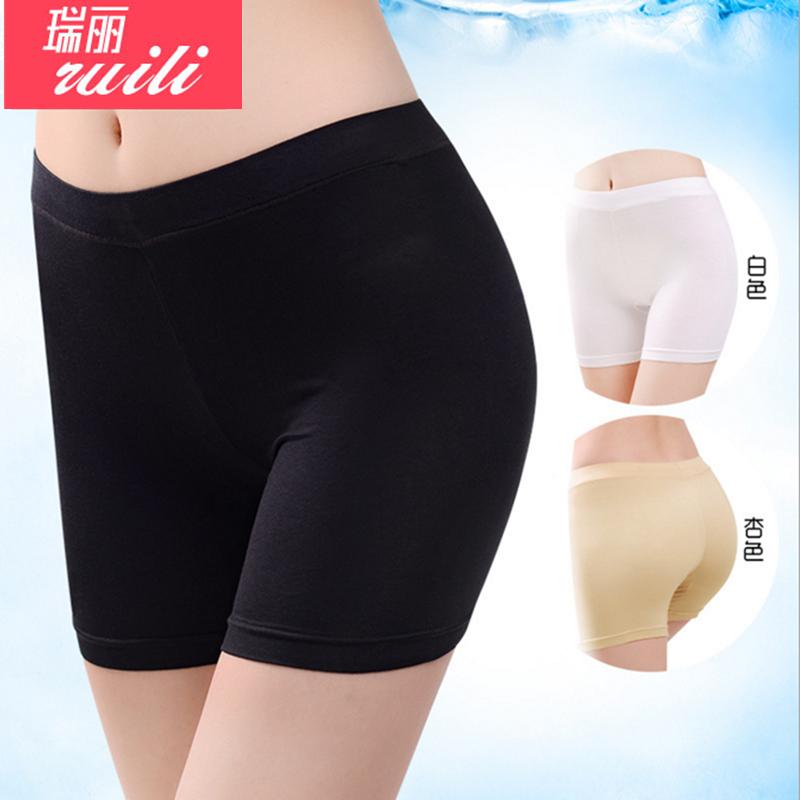 底裤裤大码内裤夏季保险平角安全莫代尔纯棉女士三分短裤走光